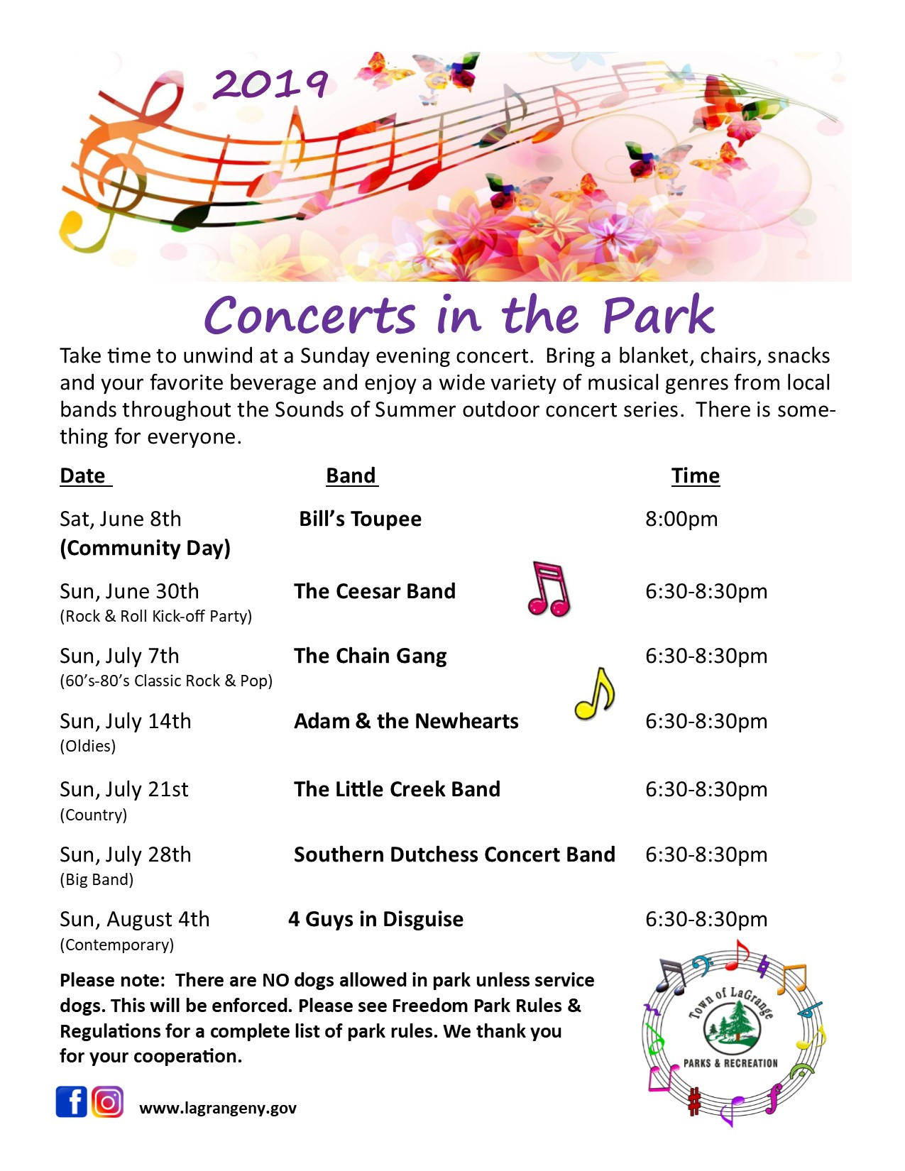 2019 Concerts in Freedom Park